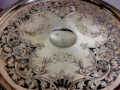 Amazing Large sterling silver tazza Flowers Open Work Buy Whitening