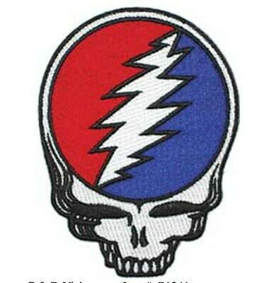 "Grateful Dead Diecut Syf Iron On Patch 4"" x 3"" Officially Licensed P1341"