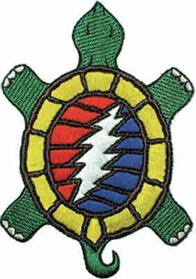 "Grateful Dead Turtle Iron On Patch 4"" x 2.75"" Free Ship Licensed C&D P-1351"