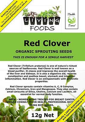 Red Clover Organic Seeds 12g (Sprouting Seeds)FREE GIFT When you spend $25