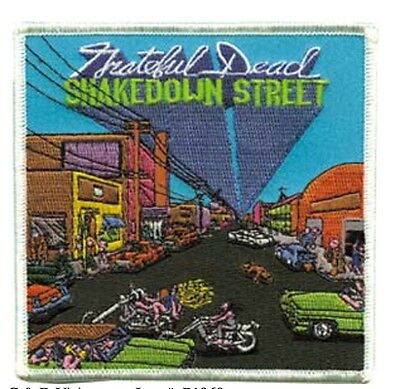 "Grateful Dead Shakedown Street Iron On Patch 4"" x 4"" Free Ship Licensed P1969"