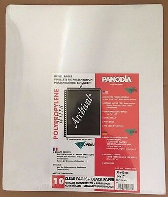 Panodia Polypropylene Ultra Transparent Archival Refill Sleeves 14x17in 10 Pages
