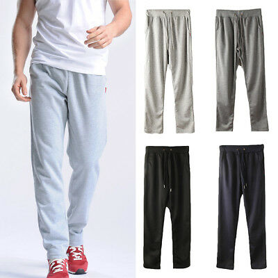 Men Sports Long Trousers Tracksuit Running Workout Joggers Gym Sweatpants Pants