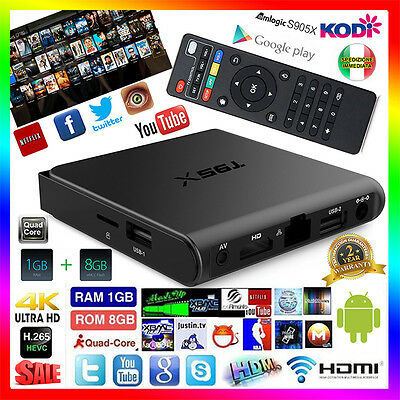 T95X Android 6.0 Quad-Core 2GHz  2GB 16GB S905X KODI Smart TV Box 4K WiFi IPTV