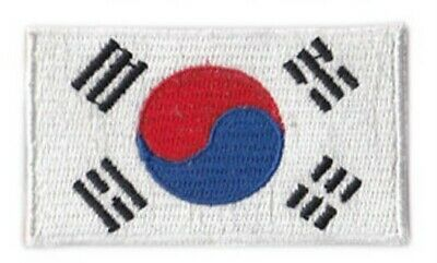 """South Korea  FLAG Iron On Patch 3 1//2/"""" by 2.25 inches"""