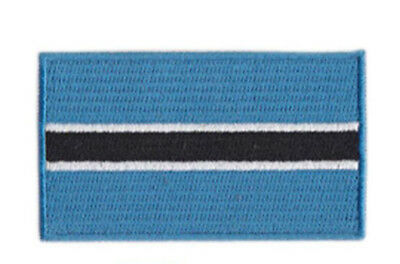 BOTSWANA COUNTRY FLAG IRON-ON PATCH CREST BADGE 1.5 X 2.5 INCH