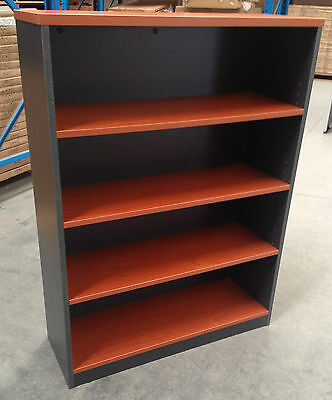 Office 1200H Bookcase- Cherry & Ironstone