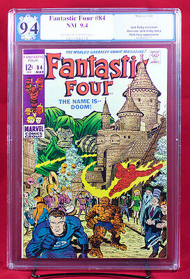 FANTASTIC FOUR #84 (Marvel 1969) PGX 9.4 NM Near Mint - THE NAME IS DOOM!!!