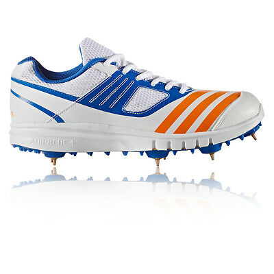 Adidas Howzat Spike Junior White Cricket Sports Shoes Trainers Pumps