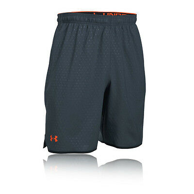 Under Armour Qualifier Novelty Mens Grey Training Gym Shorts Pants Bottoms