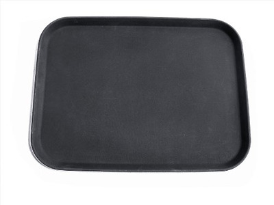 New Star 24975 NSF Plastic Rectangular Rubber Lined Non-Slip Tray, 12 by 16-Inch