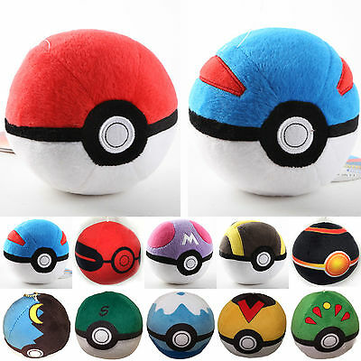 Hot Soft Cosplay Pokemon Pokeball Master Poke Ball Plush Stuffed Doll Teddy Toys
