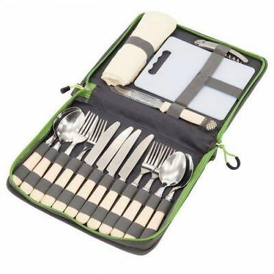 Outwell Picnic Camping Outdoor Cutlery Dining Set and Case