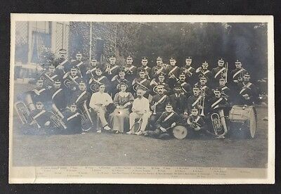 Postcard: Military Real Photo WW1 #M19 - Temperance Leicester Brass Band Named