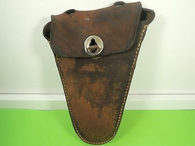 Real Leather - Vintage Bicycle Bag - Tool Pouch - Triangle Design - Retro Bike