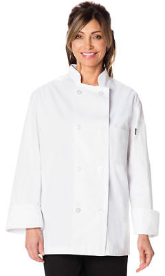 Dickies Chef Adult Long Sleeve Double Breasted Front Enclosure Chef Coat. DC45