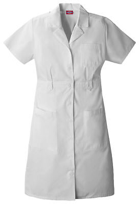 Dickies Women's Short Sleeve Front Notched Collar Button Front Scrub Top. 84500
