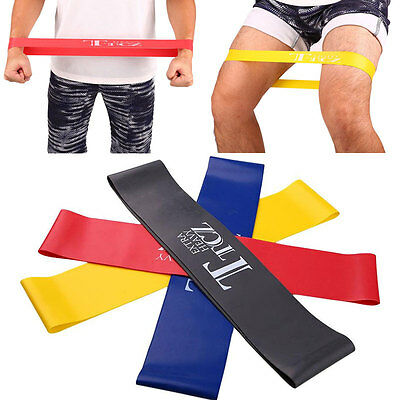 Latex Resistance Yoga Band Elastic Rubber Muscle Fitness Bands Workout