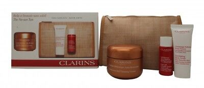 Clarins Self Tanning Gift Set 125Ml Self Tanning Cream + 30Ml Body Scrub + 30Ml