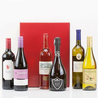 Natures Hampers Luxury Six Wines in a Box - Suitable for both Vegetarians & Vega