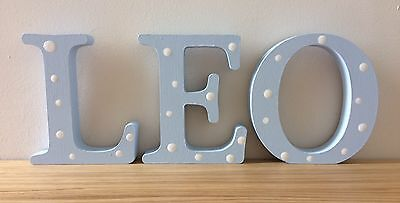 personalised wooden letter/name for Christening/ new baby/ newborn gift