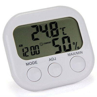 Brand New Temperature Digital Lcd Indoor/Outdoor Thermometer Hygrometer White
