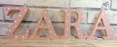 personalised wooden letters/name for nursery decoration