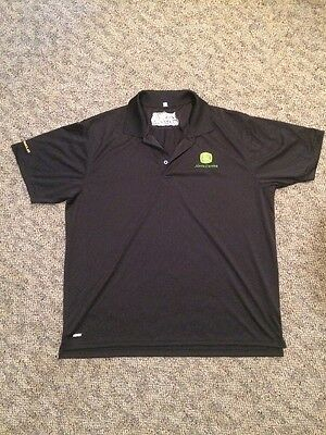 XL John Deere V-Tech Polo Shirt Green Logo GATOR UTILITY VEHICLES Polyester