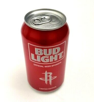 Houston Rockets Limited Edition NBA 12 oz Bud Light Beer Can 2016 Red EMPTY