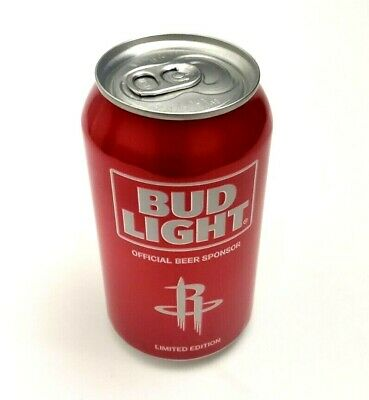 Houston Rockets NBA Bud Light Beer Can Limited Edition 1 Can Red EMPTY