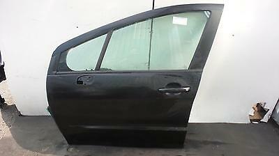 2008 PEUGEOT 308 5 Door Hatchback Black N/S Passengers Left Front Door