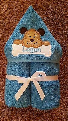 Personalized Puppy Dog Hooded Towel