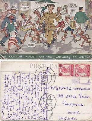 Egypt 1942 ppc  canc R10 RAF censor 183 and C8 cachets {see Below}