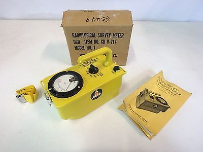 Victoreen CDV-717 Geiger Counter Radiological Survey Meter