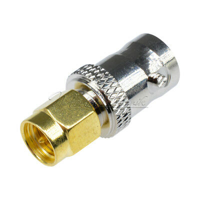 RF Coaxial SMA Male Plug to BNC Female M/F Radio Antenna Connector Adapter