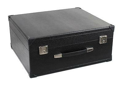 Luxury Accordion Case For 96 Bass Instrument Lockable Leatherette Carry Bag New