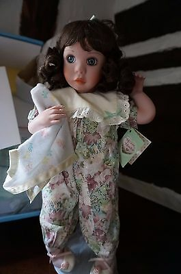Vintage Porcelain Doll ~ Me & My Blankie by Jan Goodyear for Edwin M. Knowles