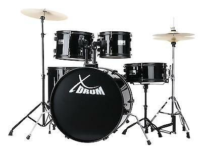 "Set Batterie 22"" Drum Percussion Acoustique Timbales Cymbales Pedale Tabouret"