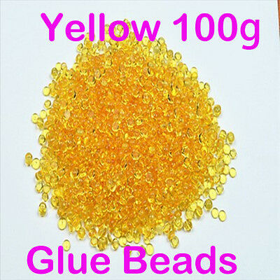 100g Italian clear keratin glue beads for pre-bonded tipped hair extensions G