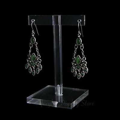 """Acrylic Clear Earring Display T-Bar Stand 3.25"""""""
