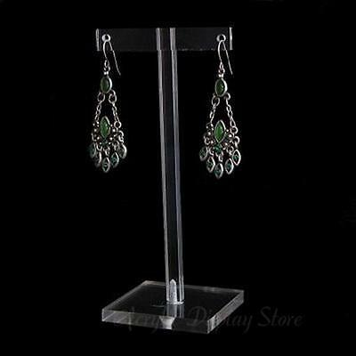 """Acrylic Clear Earring Display T-Bar Stand 5"""""""