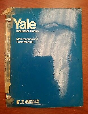 Yale Industrial Truck Maintenance Manual Rsat/ Rst, 020-030