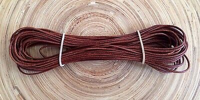 Kangaroo ROUND CORD  WHISKEY Kangaroo Leather cord (1mm Width) 10 meter hank NEW