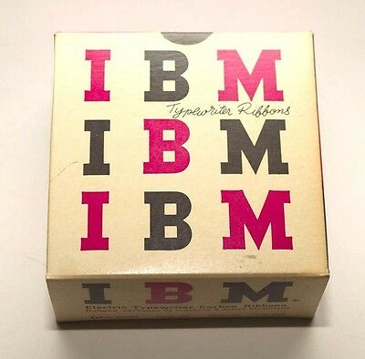 IBM Electric Typewriter Film Ribbon Black #1010760 [BOX OF 6 RIBBONS]