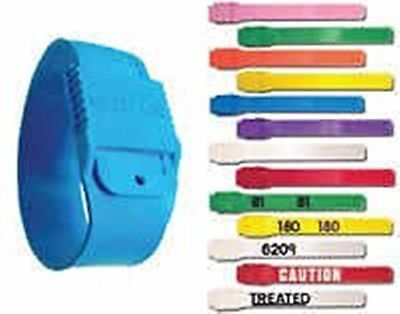 Boc Multi Loc Plastic Leg Bands BLANK (10ct) YELLOW Dairy Cow Cattle Re-Use