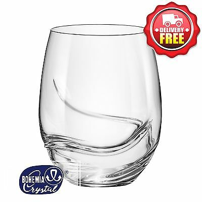 Bohemia Crystal Turbulence Stemless Wine Glasses 500ml 2pcs | Aerator Built In