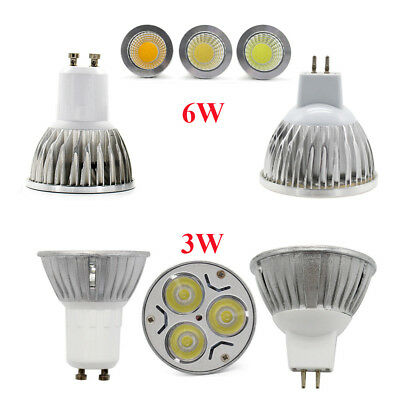 MR16 GU10 CREE LED Spotlights 3W Bulb Cool Warm White Light DC12V AC85-265V Lamp