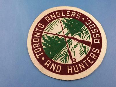Toronto Anglers & Hunters Assoc Club Patch Vintage Hunting Fishing Collector