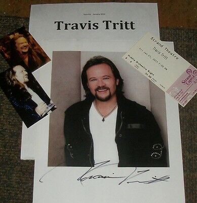 TRAVIS TRITT Autographed Photo & Photos REAL Collectible