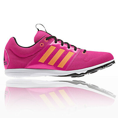 Adidas Allrounder Junior Pink Orange Running Track Field Spikes Shoes Trainers